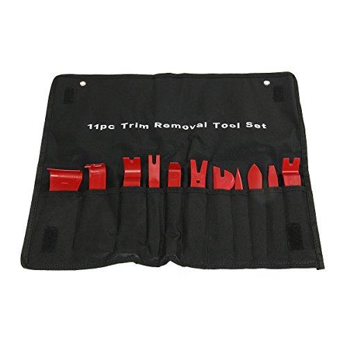 Hoyoki Trim Removal Tool Kits for Car 11 Pcs Auto Door Panel Window Molding Upholstery Fastener Remover