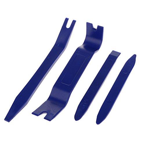Jili Online Premium Auto Trim Removal Tool Kit - 4 Piece Pry Bar Set  Fastener Remover No Scratch Trim Removal Set