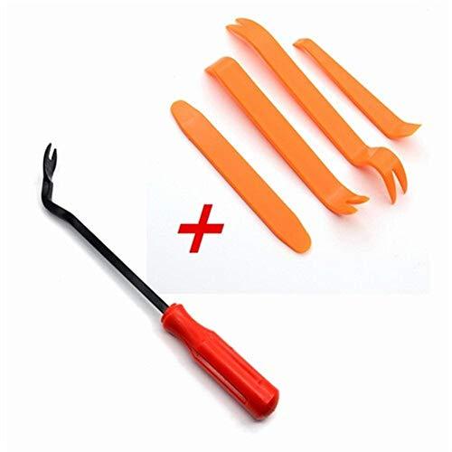 DGSP Car Fastener Removal Tool Plastic Trim Dash Removal Rivet Clips Car Door Panel Installer Cover Pry Repair Portable Fastener Tool Color Name  Red