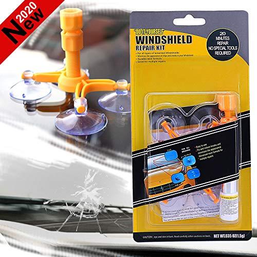 Car Windshield Repair Kit DIY Windshield Chip Repair Tool Set Quick Fix Auto Glass For Chips Cracks Bullls-Eyes Stars Window Repair