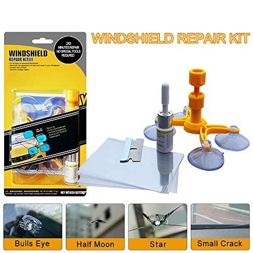 LIFEDE Windshield Repair Kit Windshield Chip Repair Kit DIY Car Windshield Glass Repair Tool for Repair Windshield Crack Half Moon CrescentsStar Chipsand Bulls Eye1 Pack