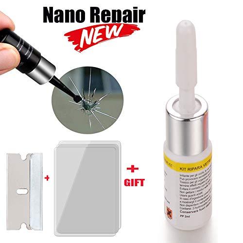 Longma Auto Windshield Repair FluidAutomotive Glass Nano Repair Agent Car Car Window Glass Crack Chip Repair Resin Durable Car Scratch Quick Remover White 1 Pack