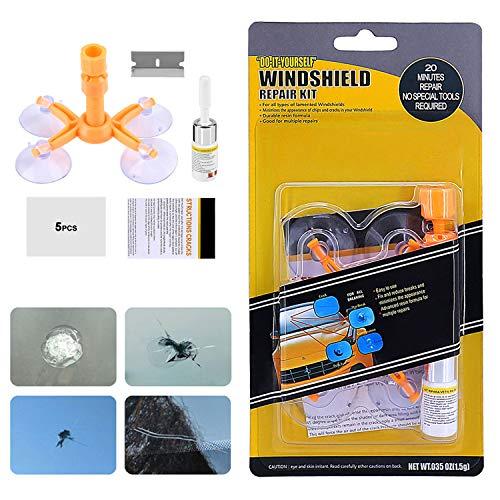 XUELI Windshield Repair Kit Car Windshield Repair Kit Professional Quick Fix for Fix Windshield Auto Glass ChipsCracksScratchNicksHalf-MoonBulls-EyeStar-Shaped