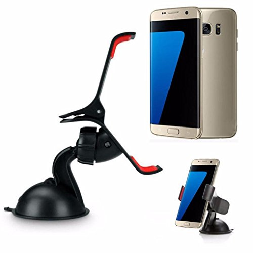 Aobiny Car Windshield Mount Holder 360° Rotable Clip Stand For Samsung Galaxy S7S7 Edge Universal