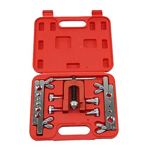 Fenteer 7pc Flaring Tool Kit Brake Gas Water Line Tubing Swaging Automotive Plumbing
