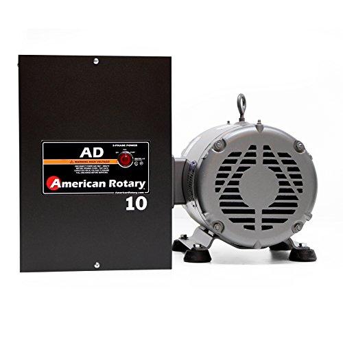 5 HP Manual Gearhead Lathe American Rotary Phase Converter 240 VAC Single To Three Phase Wall Mount - AD-10-ML