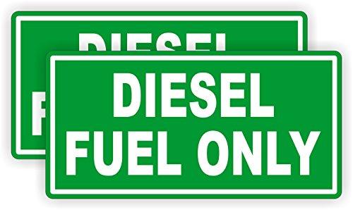 2 Diesel Fuel Only Vinyl Decals  Stickers  Labels Fuel Transfer Tank Eco Pump Gas Door Label Weatherproof Pair