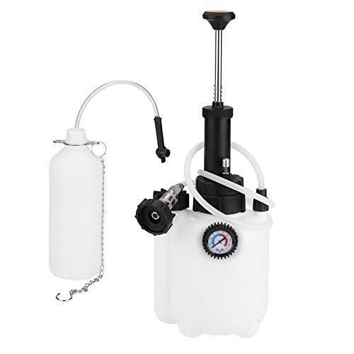 Estink Brake Bleeder 3L Capacity Manual Brake Clutch Fluid Bleeder Bleeding Tool with Universal Adapter for Car Motorbike