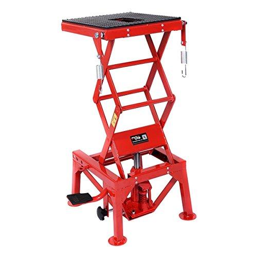 Goplus 300lb Motorcycle Lift Table Hydraulic Cycle Dirt Bike ATV Scissor Jack Lift Hoist Center Stand Lift
