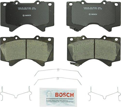 Bosch BC1303 QuietCast Premium Ceramic Disc Brake Pad Set For Lexus 2008-2017 LX570 Toyota 2008-2017 Land Cruiser 2008-2017 Sequoia 2007-2017 Tundra Front