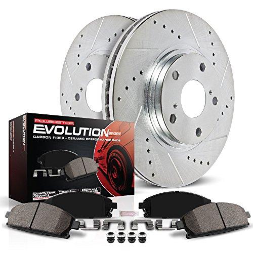 Power Stop K2405 Rear Brake Kit with DrilledSlotted Brake Rotors and Z23 Evolution Ceramic Brake Pads