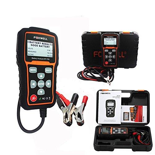 Autool Foxwell BT705 Battery Diagnostic Tool Auto Car 12V Battery Load Tester Analyzer Tool With Bluetooth Printer