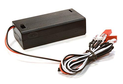 Integy RC Model Hop-ups C26349WHITE Plastic Battery Box w 4pcs 5mm Size LED Light
