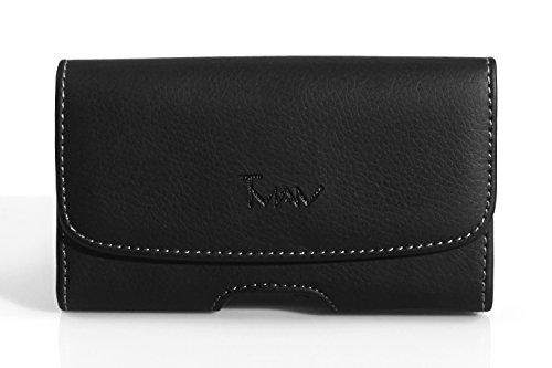 Sonim XP5 Plus Size Horizontal Leather Belt Clip Pouchfits the Phone Hard Case Extended BatteryMophie Juice packLifeproofOtterbox Case On it