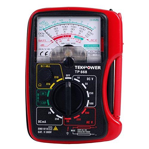 Tekpower TP668 Palm-size 13-range Analog Multimeter with 15V and 9V Battery Tester
