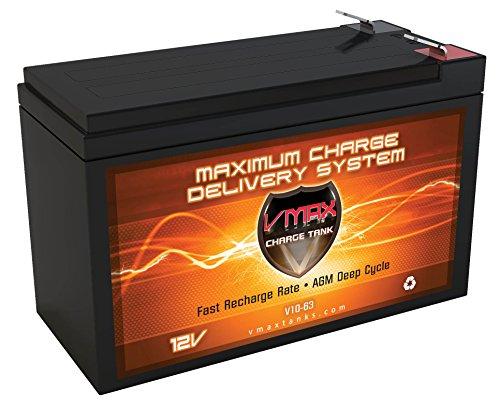 VMAXTANKS V10-63 12 Volt 10AH AGM 12V SLA Battery Replaces SDC 632RF 2 Amp Power Supply