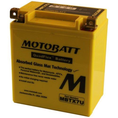 12 Volt 8 Ah MotoBatt MBTX7U Sealed Maintenance Free AGM Battery