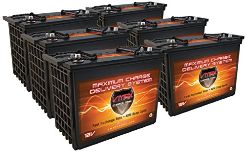 Qty6 XTR12-155ah FOR GEM e2 e4 e6 es el elxd GOLF CART 12V VMAX XTREME AGM BATTERY