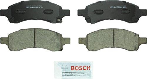 Bosch BC1169 QuietCast Premium Ceramic Disc Brake Pad Set For Select Buick Rainier Chevrolet Colorado Trailblazer GMC Acadia Canyon Envoy Isuzu Ascender Saab 9-7x Front