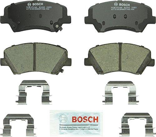 Bosch BC1543 QuietCast Premium Ceramic Disc Brake Pad Set For Hyundai Elantra Elantra Coupe Elantra GT Kia Forte Forte5 Forte Koup Front