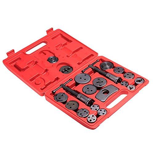 Kaluo 21pcs Professional Disc Brake Caliper Disc Piston Compressor Windback Tool Kit Set for Disk Brake Pad Replacement