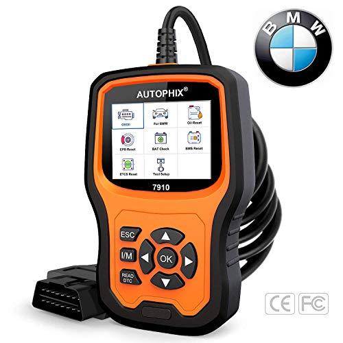 AUTOPHIX BMW Diagnostic Scanner Tool Enhanced BMW 7910 Multi-System OBD2 Scanner Auto Fault Code Reader with Battery Registration for All BMW After 1998