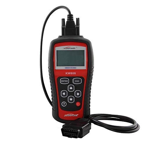 KKmoon KONNWEI KW808 OBDIIEOBD Auto Engine Fault Diagnostic Scanner Code Reader Work for USAsianEuropean Vehicles