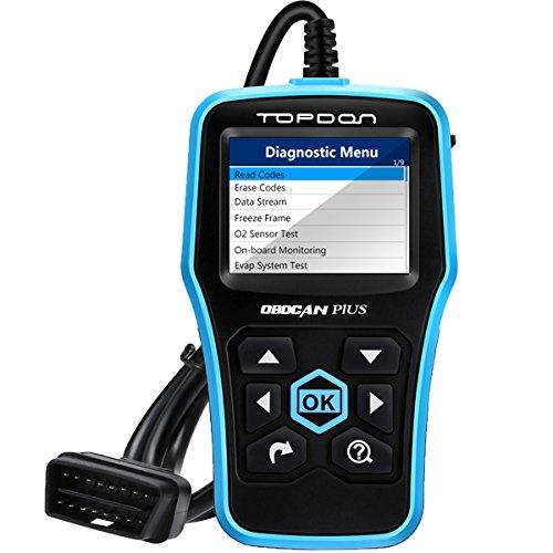 TOPDON Plus 20 Car Engine Fault Code Reader Universal OBD2 Scanner Car Computer Diagnostic Scan Tool with O2 Sensor Test On Board Monitor Test