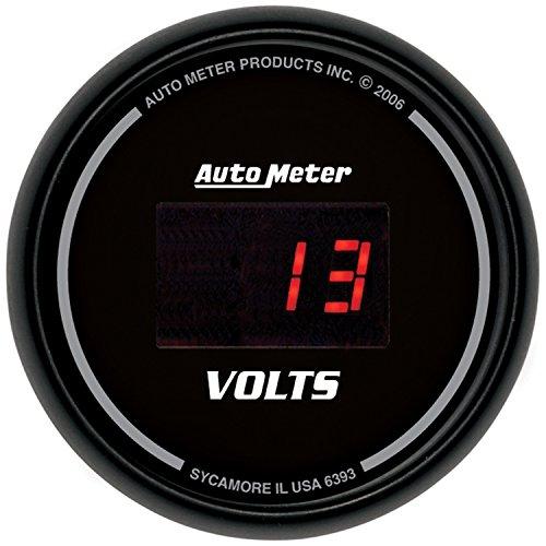 Auto Meter 6393 Sport Comp Digital 2-116 40408 Volts Digital Voltmeter