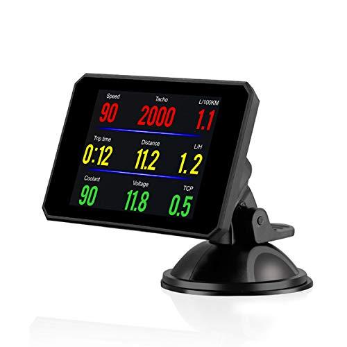 KKmoon P16 Head up Display OBD Smart HUD Auto Digital Meter OBD2 Port Warning Windshield Alarm System