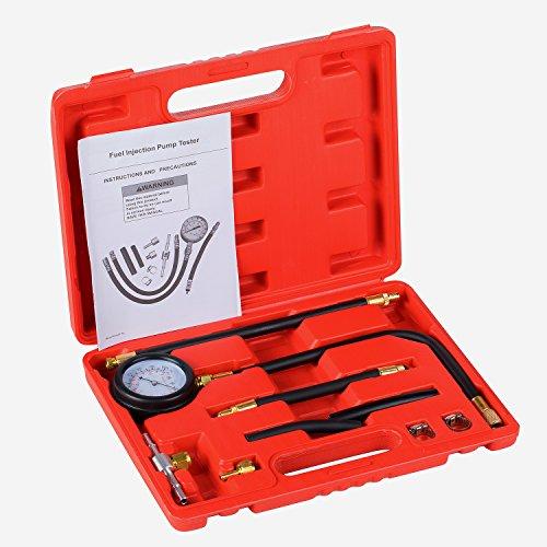 Detool Fuel Injection Pump Gas Gasoline Pressure Tester gauge Kit Car Tools for Cars Truck