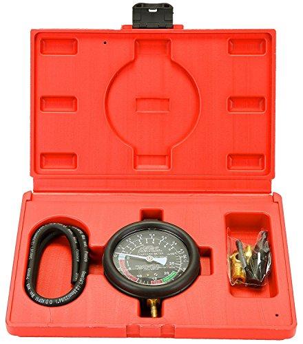 Fuel Pressure Kit Tester - Fuel Pump Valve Vacuum Tester - Carburetor Valve Pressure Tester Guage Kit for Car and Truck by Jecr