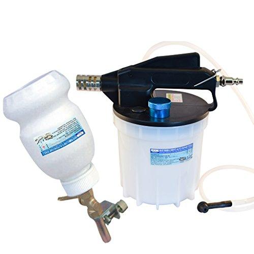 Fit Tools 2 Liter Pneumatic Brake Fluid Extractor and Brake Bleeder Vacuum Pump Kit
