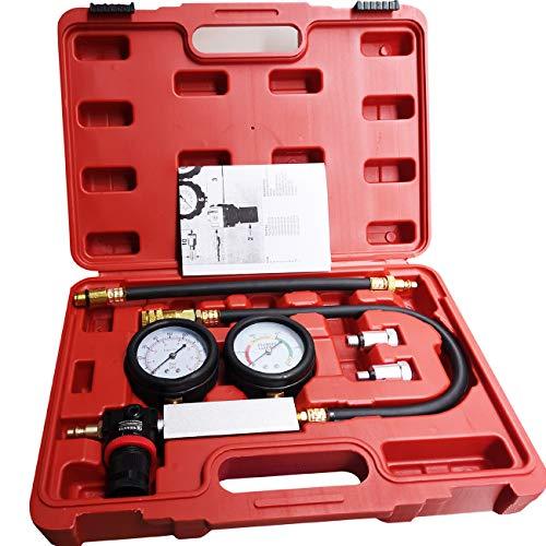 LEIMO Cylinder Leak Down TesterCompression Test kit -Engine Cylinder Dual Gauge Leakdown Tester kit Diagnostics Tool