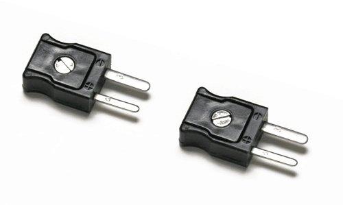 Fluke 80CJ-M Type-J Male Mini-Connectors Black Set of 2