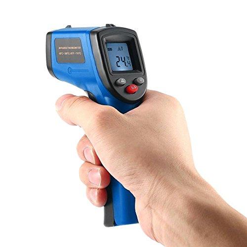 Gogocar Non-Contact LCD IR Laser Digital Temperature Meter Sensor Infrared Thermometer Blue
