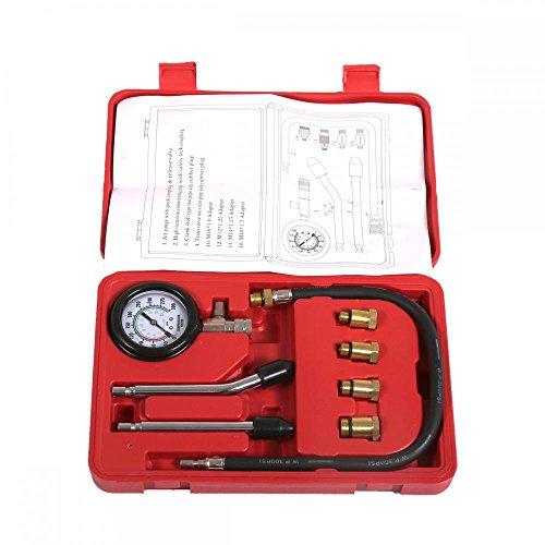 New 8pc Petrol Engine Cylinder Compression Tester Kit Gauge Tool Automotive