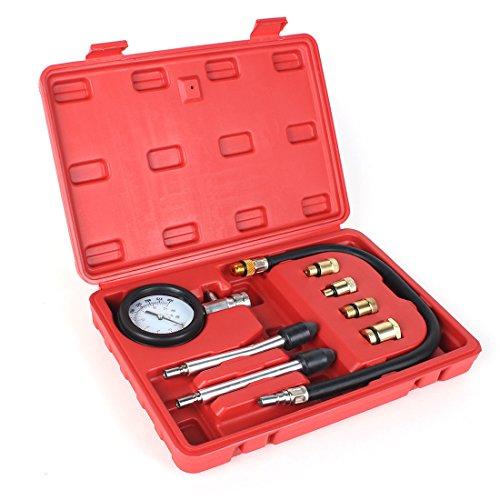 8PCS Professional Tester Test Kit Cylinder Compression Gas Engine Set Automotive Tool Gauge for Car Truck