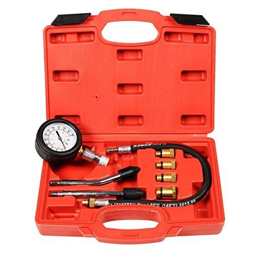 8pc Gasoline Engine Cylinder Compression Tester Kit Automotive Tool Gauge