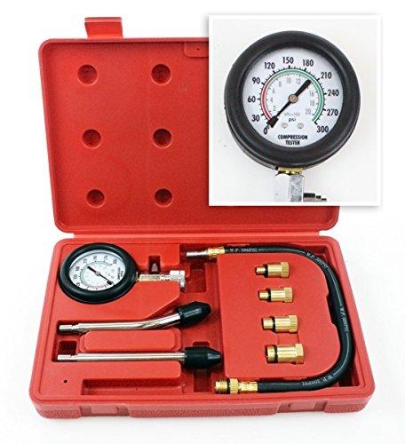 Engine Cylinder Compression auto Tester Kit gauge M8 M10 M12 M14 Gas motor 90376