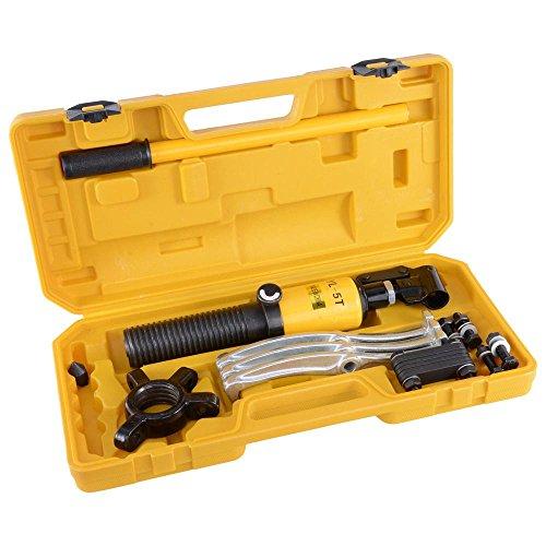 Yescom 5 Ton Hydraulic Gear Puller Bearing Wheel Pulling 3in1 Pumps Oil Tube Drawing Machine w Case