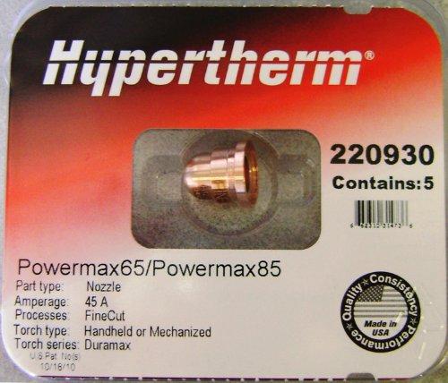 Hypertherm Powermax 65 85 Fine Cut Nozzles 220930