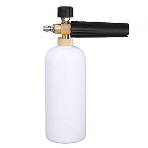 Ocamo Fuel Injector Cleaner Car Wash Gun Bottle Adjustable Foam Cannon 1 Liter Bottle Snow Foam Lance 14 Adjustable Car Wash Gun Snow Foam Lance High Pressure Car Washer Bottle Cannon Tools