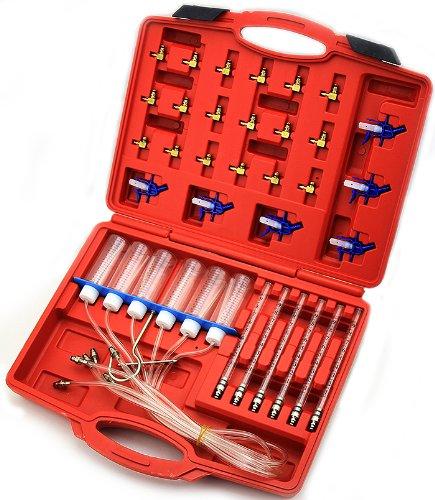 SUPERTOOLS Diesel Injector flow Diagnostic Cylinder Common Rail Adaptor Test Tool Kit TP1003