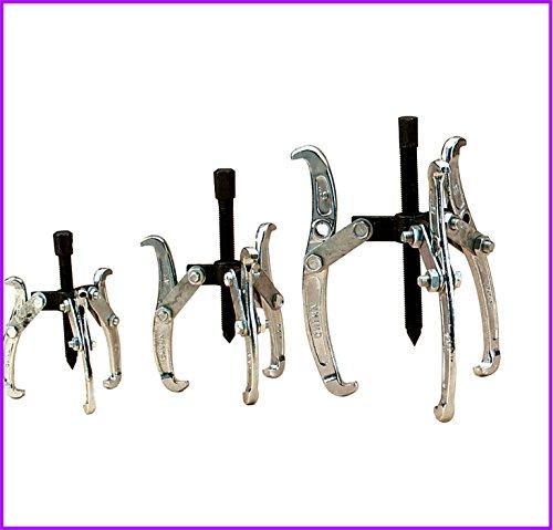 3 Jaw Gear Pulley Puller Bearing Set High Carbon Steel 3pc Set 3 4 6 Small Leg Large Mechanics - House Deals