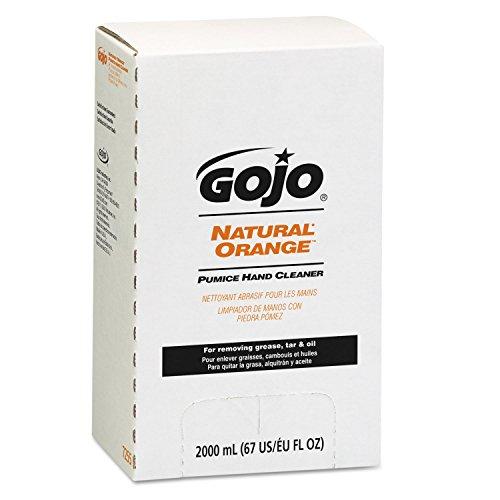 GOJO 7255 NATURAL ORANGE Pumice Hand Cleaner Refill Citrus Scent 2000mL 4Carton