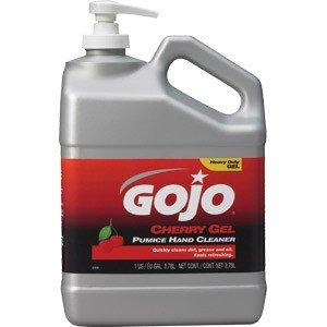 Gojo Cherry Gel Pumice Hand Cleaner 05 gal Pump Bottle