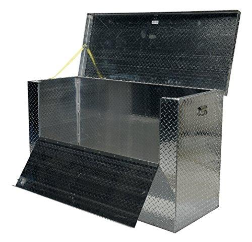 Vestil APTS-3060-FD Aluminum Tread Plate Portable Tool Box Fold Down Front 2500 lb Capacity Front Door Width 48-1316 Front Door Height 12-14 Padlock Shackle diameter 716