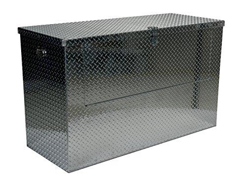 Vestil APTS-3660-FD Aluminum Tread Plate Portable Tool Box Fold Down Front 2500 lb Capacity Front Door Width 48-1316 Front Door Height 18-14 Padlock Shackle diameter 716