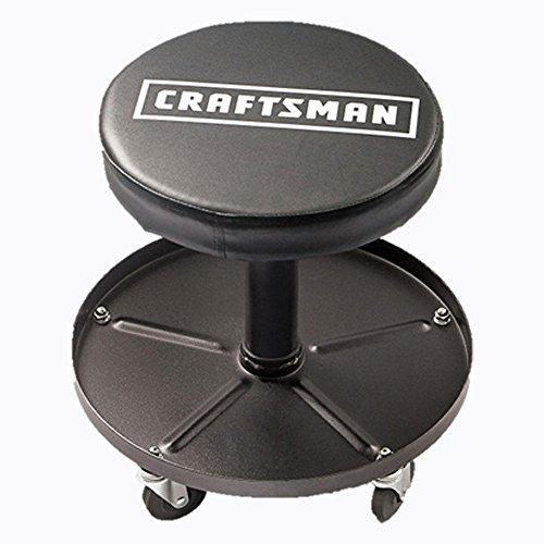 Craftsman Adjustable Pneumatic Mechanics Swivel Seat with Tool Caddy